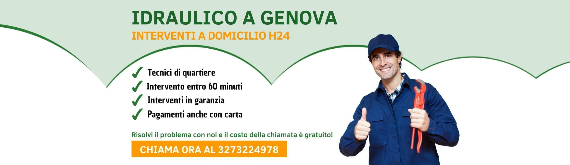 Idraulico a Genova h24